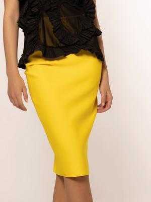 Solid Color Bandage Midi Skirt