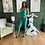 Thumbnail: Green Straight Leg Bodysuit