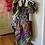 Thumbnail: Multicolor Authentic African Print Bubble Print Dress