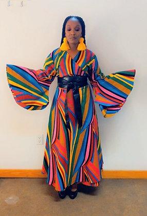 The Multi Color Pattern Print Dress