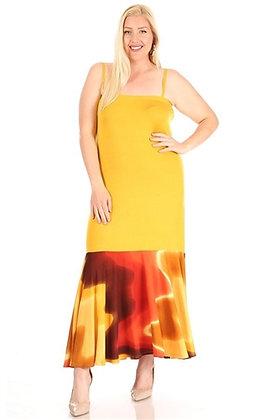 Spaghetti Strap Print Dress