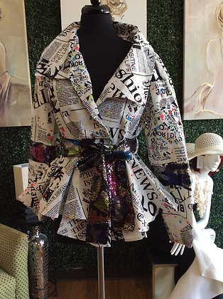 Print Sequin Jacket