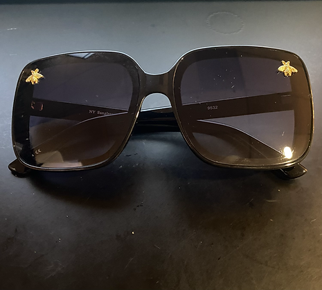 Bumblebee Embellished Dark Sunglasses With Red Arms
