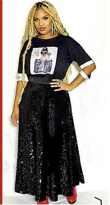 Sequin Long Skirt