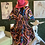 Thumbnail: Multicolor Authentic African Print  Smocked Waist Dress