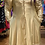 Thumbnail: Flare Faux Leather Gold Dress