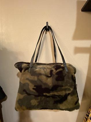 Lightweight Faux Fur Medium Duffel Bag