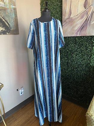 Ocean Stripe Comfy Dress Maxi Dress
