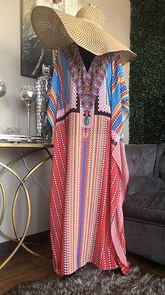 Beach Cover Up Maxi Printed One Size Dress