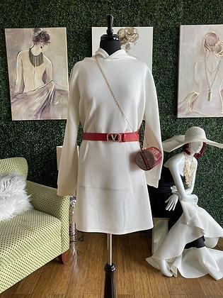 Hooded Top Dress W/Stones