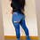 Thumbnail: Bottom Tie Distressed Jeans