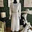 Thumbnail: Long Sleeve Sheer Lace White Pleated Maxi Dress