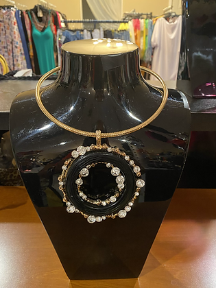 Circle of Color Necklace With Matching Earrings