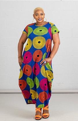 Print Knit Maxi Dress