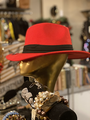 Feather Fedora Wide Band Hat