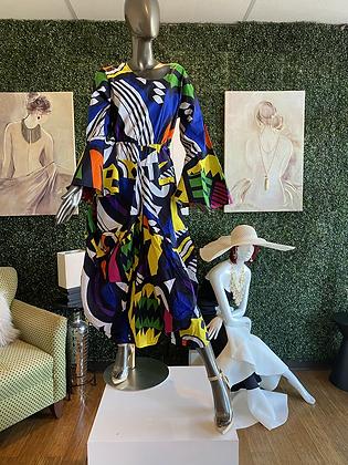 Authentic African Print Bubble Print Dress