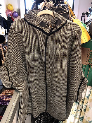 Black Sweater Bell Sleeve Jacket