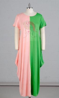 Embellished Knit Maxi Bubble Dress