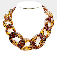 Leopard Necklace Statement Necklace