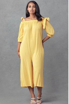 Yellow Wide Leg Culottes Jumper