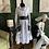 Thumbnail: Black and White Shingle Pocket Dress