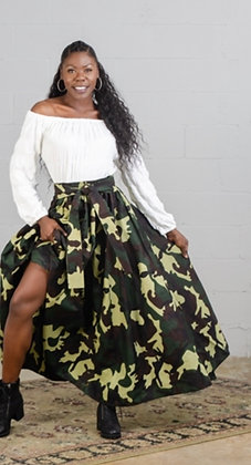 Camo Long Skirt