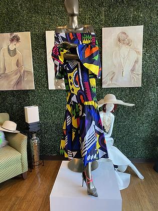 Authentic African Print Mermaid Print Dress