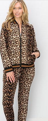 2 Piece Leopard Sweatsuit