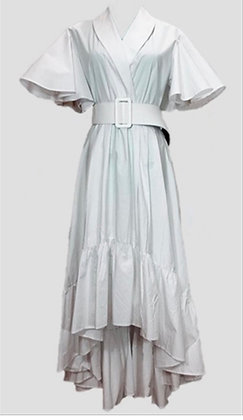 White Hi Low Dress