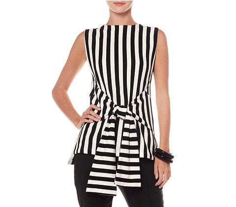 Stripe Sleeveless Shirt Black and White