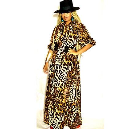 Leopard Animal Print Maxi Dress
