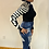 Thumbnail: Dark Blue High Rise Destroyed Flare Jeans