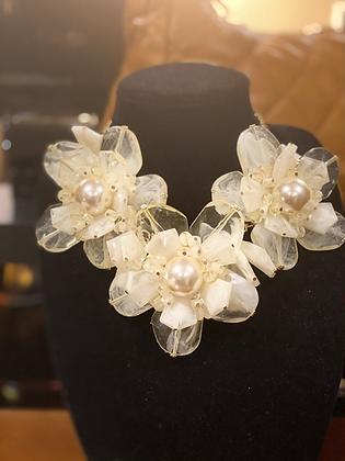Crystal Flower Necklace Set
