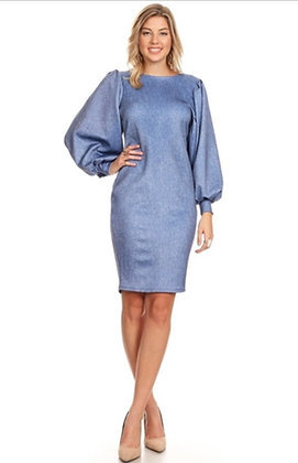 Denim Scuba Midi Dress