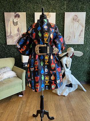 Vase Print Dress