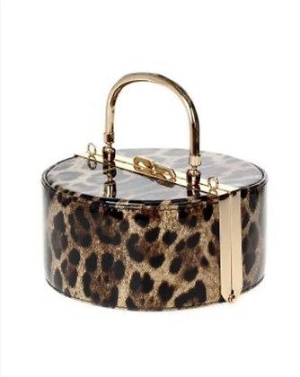 Round Leopard Clutch