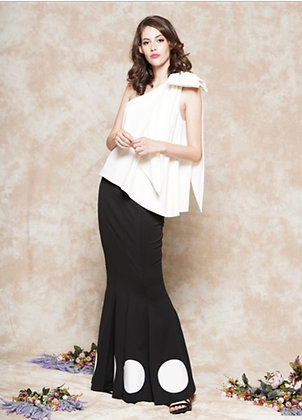 Sleeveless One Shoulder Bow Top