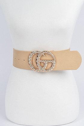Stone Buckle Waist Belt