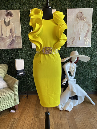 Ruffle Low Back Dress