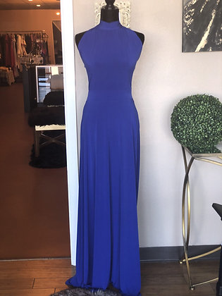 Designer Inspired Maxi Blue Dress