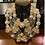 Thumbnail: Glass & Pearl Bling Necklace With Matching Earrings