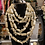 Thumbnail: Glass River Of Pearls  Necklace With Matching Earrings