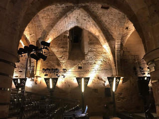 Our venue: Hospitaller Fortress (The Knights' Hall), AcreFringe Festival 2018