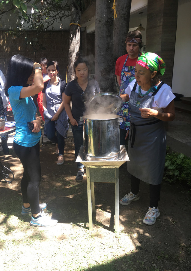 tamale making