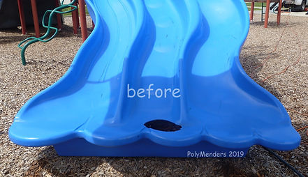 Photo of triple slide with large hole