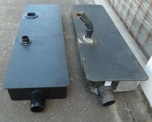 New plastic fabrication to replace broken blackwater tank.