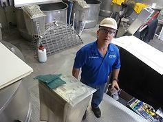 Onsite plastic repair at food processing plant in Stanislaus.