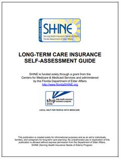 Self Assessment for LTC