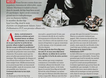 ADAMO dans le Magazine 7 Jours !