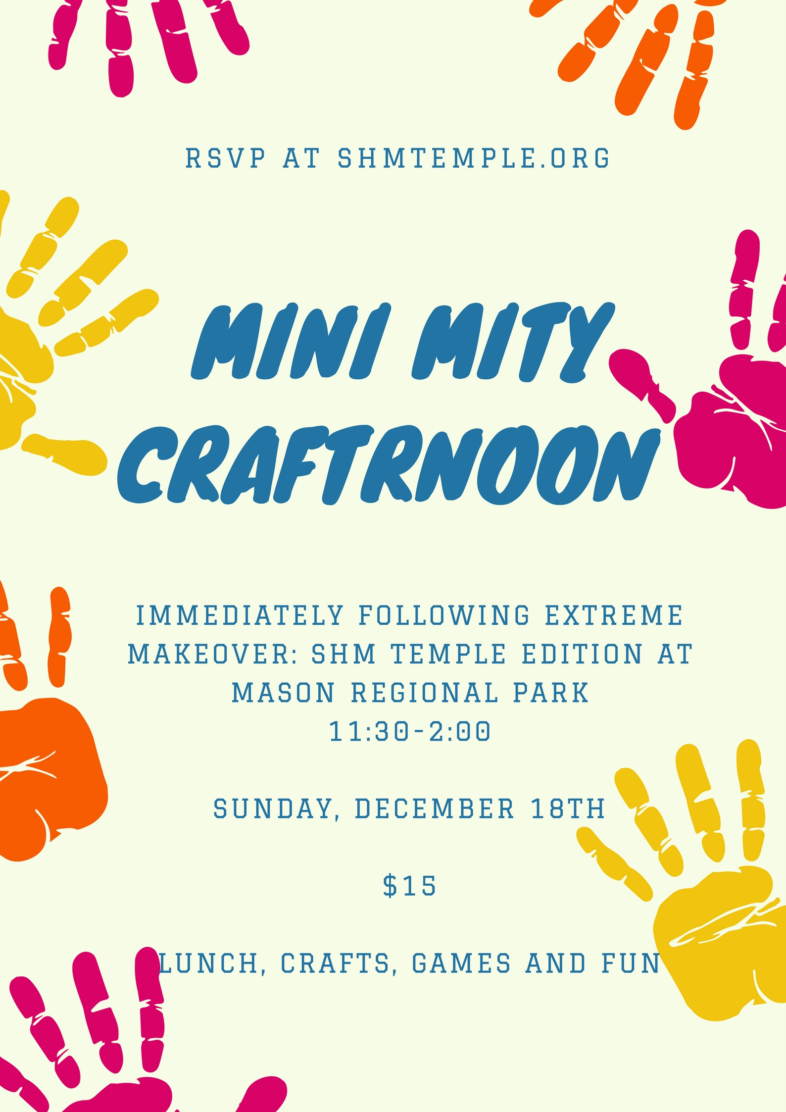 Mini Mity craftrnoon
